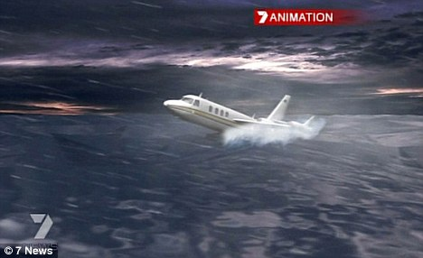 An animation provided by 7 News reveals how the plane made its landing during the storm