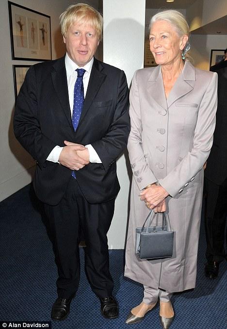 Boris Johnson and Vanessa Redgrave