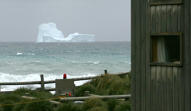 An iceberg spotted off Macquarie Island