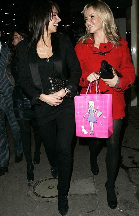 Christine Bleakley and Amanda Holden in Knightsbridge