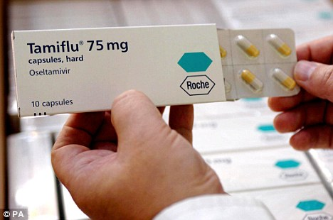 Packets of Tamiflu