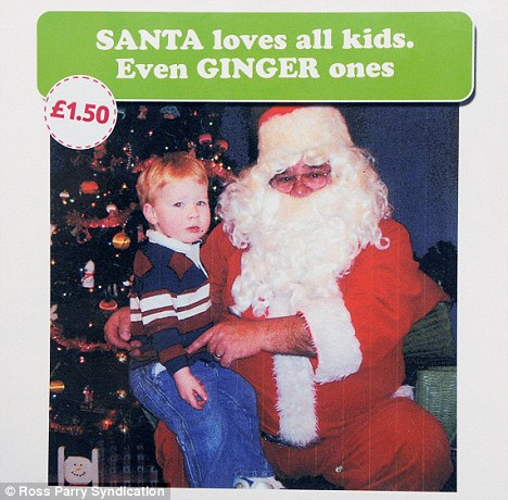 Controversial: The Tesco card which pokes fun at redheads