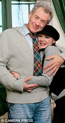 Great loves: Frances with her longtime friend Sir Ian McKellen (left) and former boyfriend Neil Pearson