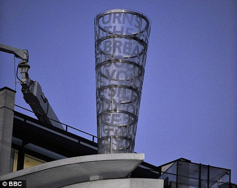 Breathing is seen on the roof of the BBC's Broadcasting House