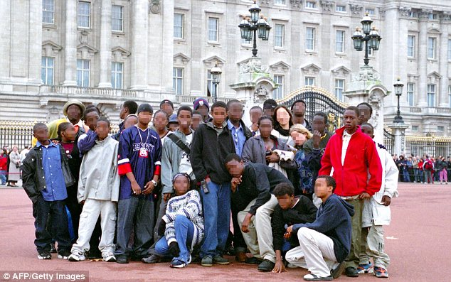 Abdulmutallab outside Buckingham Palace