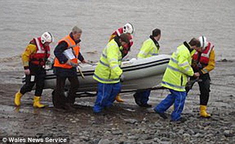 Charlotte Church's life boat being rescued by the Penarth RNLI.