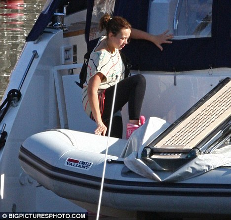 Charlotte Church and Gavin Hanson, spent the night on board their yacht