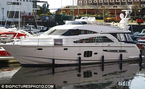 Charlotte Church and Gavin Hanson, spent the night on board their yacht,