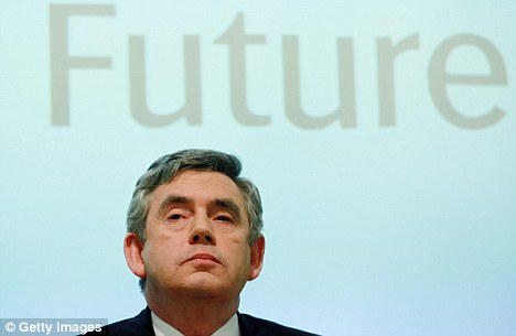 Resolute: Gordon Brown has vowed he will lead his party into this year's General Election