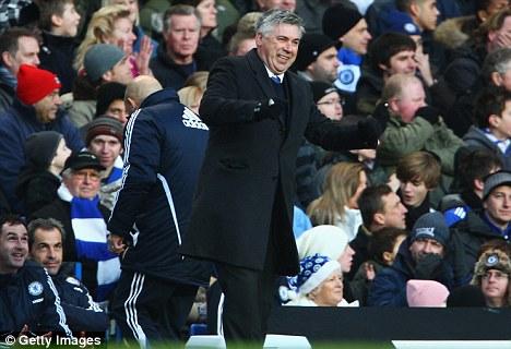 Carlo Ancelotti manager of Chelsea