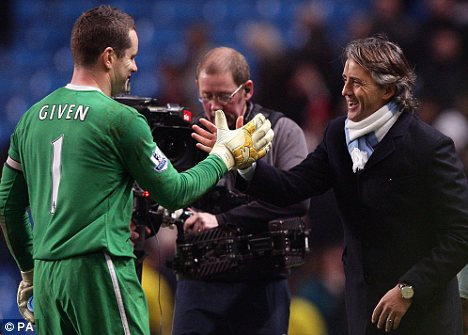 Who's the Man: Given and Mancini celebrate a job well done