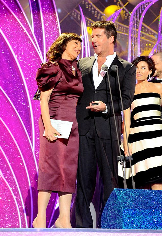 Arlene Phillips (left) and Simon Cowell during the National Television Awards