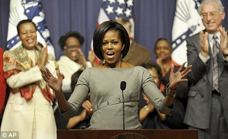 Michelle Obama at the Commerce Department in Washington