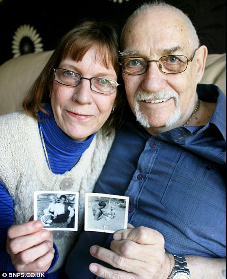 Frances Simpson discovered her father Tony Macnauton (right) on Facebook, 50 years after they last saw each other