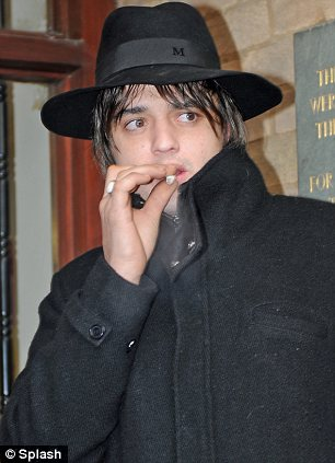 Pete Doherty leaves Gloucester Magistrates' Court