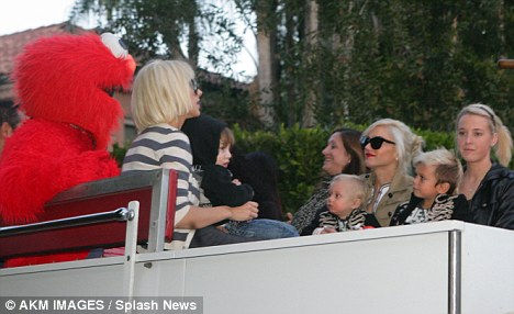 What a treat: Elmo keeps the guests entertained
