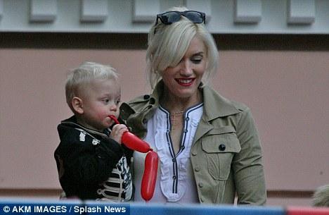 Celebrity guest: Gwen Stefani  and her son Zuma