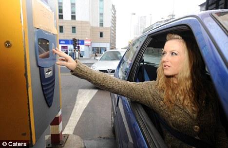 Woman in a car park