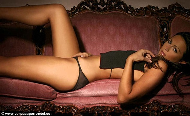 Sultry: One of Vanessa Perroncel's lingerie poses. Apart from appearing in lads' mags, she has also posed with Ali G