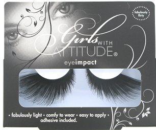 Getting lashed: Girls With Attitude Fabulously Flirty Eye Lashes, £5.88, Superdrug