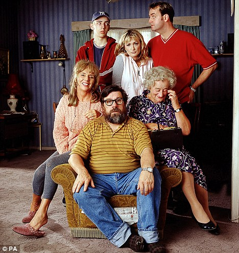 Tomlinson, front, pictured with the cast of BBC comedy the Royle Family
