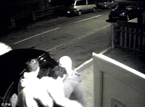 CCTV footage shows Lakhvinder Cheema's nephews Gurinder (left) and Surinder Singh,