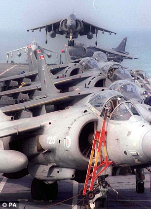 Out to pasture: The Sea Harriers that proved so valuable in the Falklands have since been retired