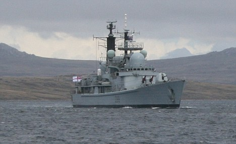 HMS York in Port William, Falkland Islands Feb 2010