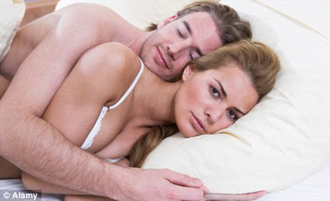 A man typically falls asleep straight after sex unlike his partner. (Posed by models)