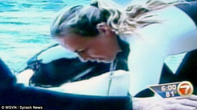 Dawn Brancheau was filmed feeding the kiiller whales just moments before she was attacked and killed at SeaWorld in Florida