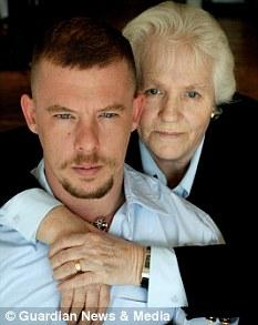 Alexander Mcqueen and his mother Joyce