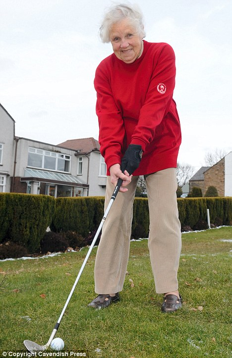 Joyce Crowther, 88, has been named Britian's longest-serving female golfer after taking up the sport when she was 13