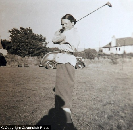 Joyce pictured at the age of 13, when she joined her local golf club