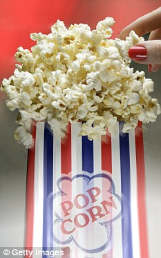 Health warnings: A large popcorn could contain as much as 1,800 calories