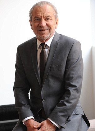 At the top of their game: England captain Rio Ferdinand (right) and Sir Alan Sugar
