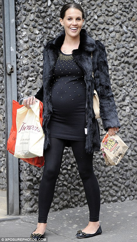 Danielle Lloyd shopping in Manchester with her mum