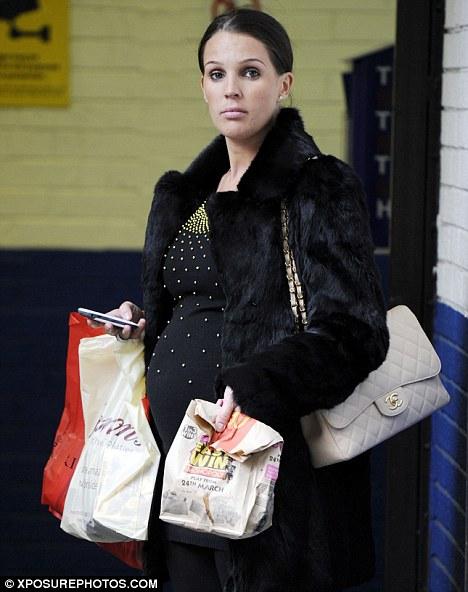 Danielle Lloyd shopping in Manchester