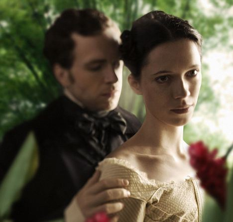 TV drama: Rebecca Hall stars in BBC4's Wide Sargasso Sea as Antoinette Cosway, opposite Rafe Spall as Edward Rochester