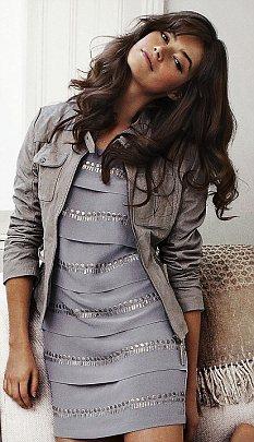 Soft colours and silky skins: Jacket, £175, mintvelvet.co.uk