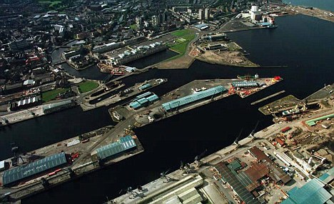 Aerial view of Leith Docks