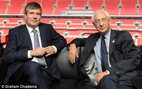 Ian Watmore (left) pictured with Lord Triesman