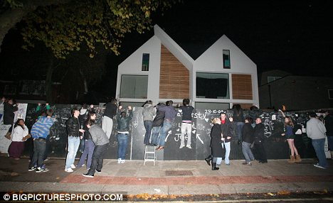Teen idols: The West Heath Avenue house was mobbed by X Factor fans