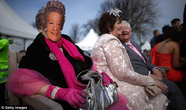 Your majesty? One masked racegoer aimed to be the Queen of Aintree