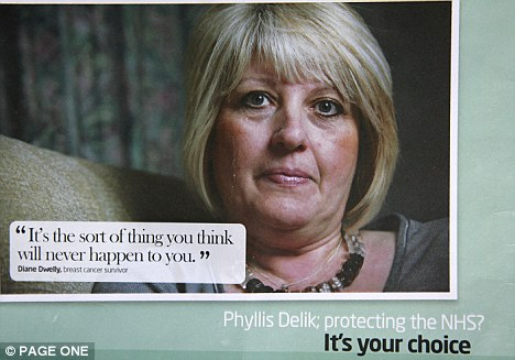 The mailshots feature a message from a breast cancer survivor praising Labour's policy