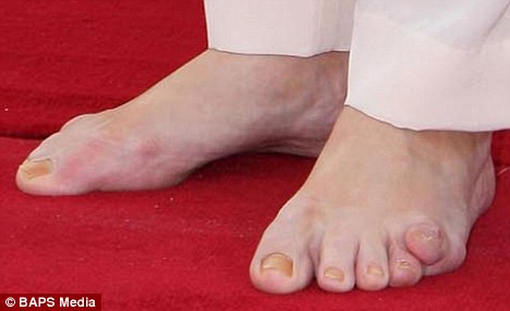 Sarah Brown's feet