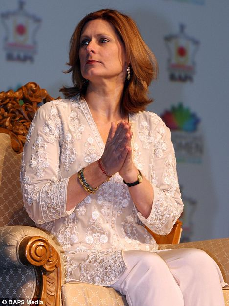 Praying for Gordon? Sarah Brown attends women's conference at a hindu temple in North London