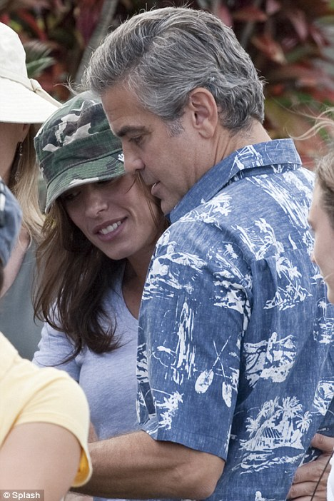 Elisabetta Canalis spent time with Clooney on set in Hawaii