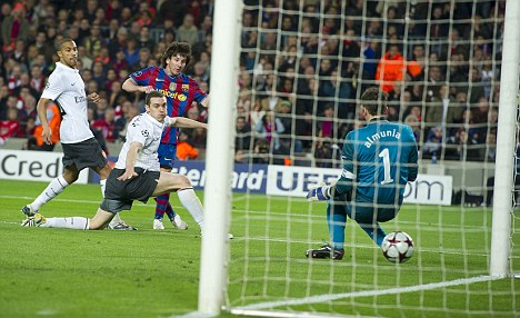 Barcelona knocked Arsenal out of the Champions League