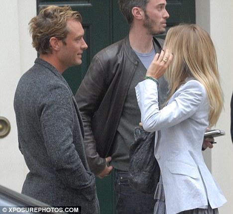 Wedding bells? Sienna has been pictured wearing the engagement ring given to her by Jude before they split in 2005
