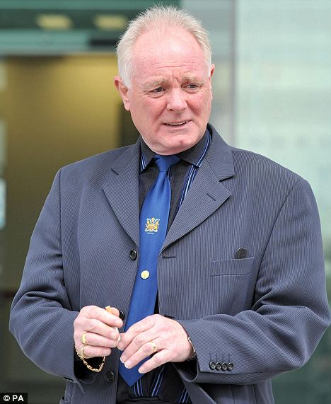 Former Coronation Street star Bruce Jones, leaves Mold Crown Court, after he escaped a jail term for dangerous driving today